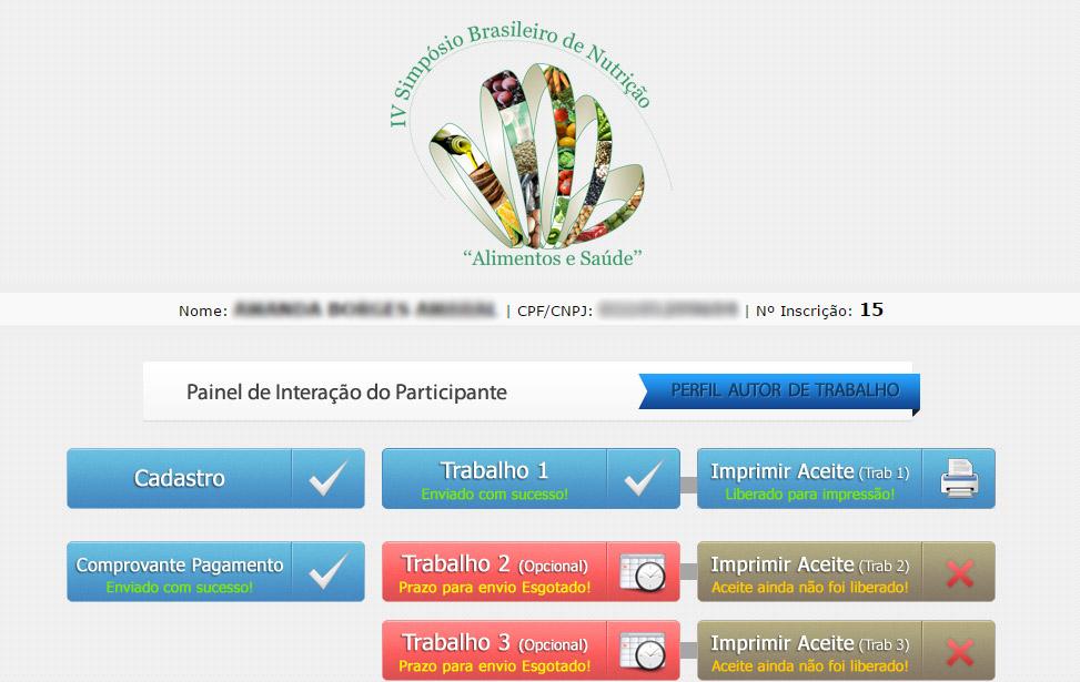 IV Simpósio Brasileiro de Nutrição - Alimentação e Saúde