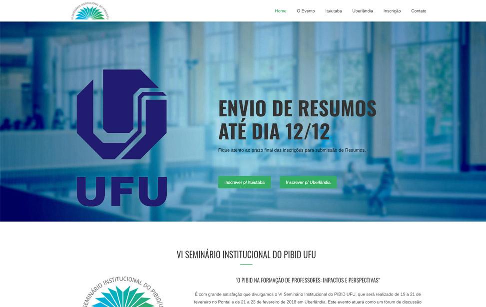 VI Seminário Institucional do PIBID UFU