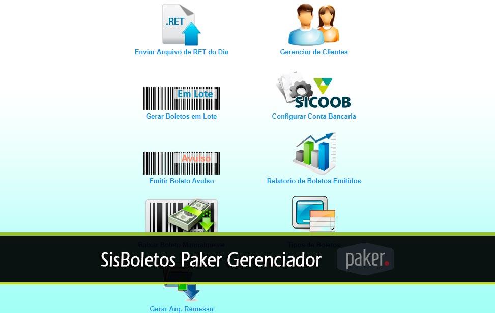 SisBoletos Paker Gerenciador